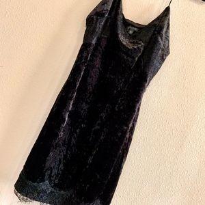 GUESS | Nada Velvet Black Lace Bodycon Mini Dress